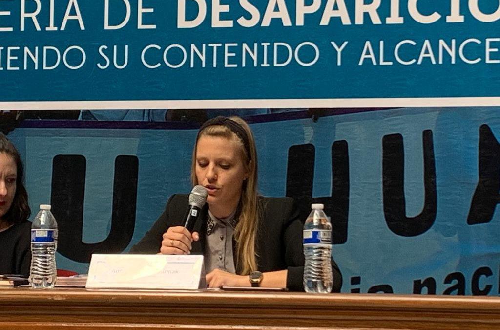 Discurso en el foro Ley general en materia de desaparición de personas: conociendo su alcance y contenido